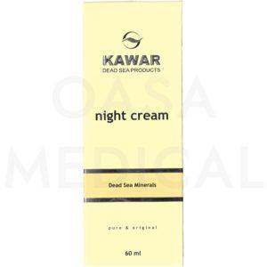 KAWAR Noční regenerační krém s minerály z Mrtvého moře 60ml